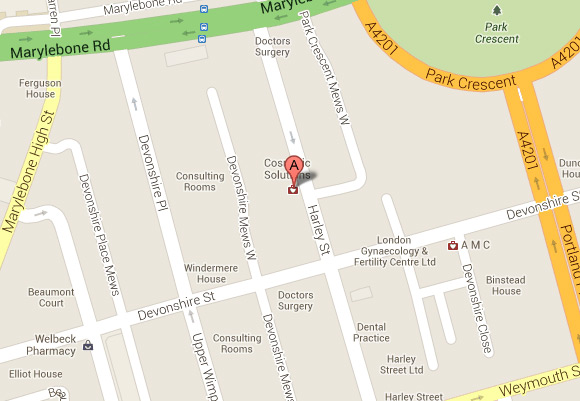 129 Harley Street Location Map
