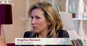 Angelica Kavouni speaking on ITV's This Morning show